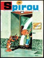 """SPIROU N° 1467 -  Année 1966 - Couverture """"BOULE ET BILL"""" De ROBA. - Spirou Magazine"""