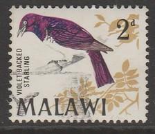 Malawi 1968 Birds 2 P Multicoloured SW 93 O Used - Malawi (1964-...)