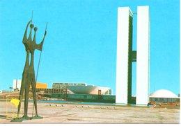 BRESIL : BRASILIA - The Giorgi Bruno Warriors And National Congress Palace - Brasilia