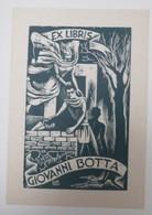 Ex-libris Illustré XXème - Italie  - Maçons, Construction - Giovanni BOTTA - Ex-libris