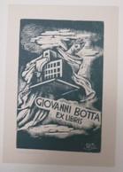 Ex-libris Illustré XXème - Italie  - Architecture, Construction - Giovanni BOTTA - Ex-libris