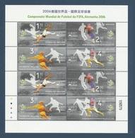 Macao Macau 2006 Yvert Feuillet 1306/1307 ** Coupe Du Monde De Football - World Cup 2006 - 1999-... Chinese Admnistrative Region