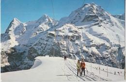 Murren, Skilift Schiltgrat, Switzerland, 1971 Used Postcard [21955] - BE Berne