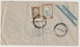 MiNr. 583, 598 Argentinien / 1951, 21. Mai/1952. Freimarke: Landkarte; 1952, 26. Aug. Freimarken: Evita Perón. - Argentinien