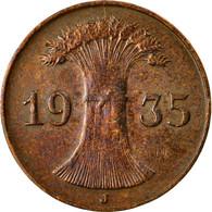 Monnaie, Allemagne, République De Weimar, Reichspfennig, 1935, Hamburg, TTB - [ 3] 1918-1933 : Weimar Republic