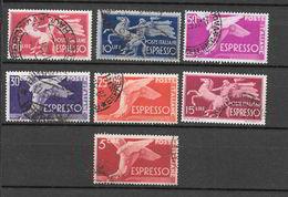 """Italia Repubblica 1945-52  Espressi - Serie """"Democratica""""  Serie Completa Usata - 6. 1946-.. Repubblica"""