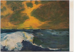 Emil Nolde, Meer III, 1991 Used Postcard [21958] - Paintings