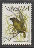Malawi 1988 Birds 75 T Multicoloured SW 512 O Used - Malawi (1964-...)
