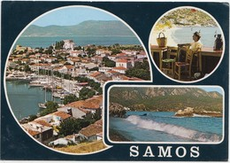 SAMOS, Greece, Multi View, 1982 Used Postcard [21961] - Greece