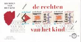 Nederland - FDC - Kinderzegels - De Rechten Van Het Kind - Onderdak/voedsel/onderwijs- NVPH E269a - Kindertijd & Jeugd