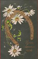 Bloem Fleur Flower Daisy Madeliefje Pâquerette Carte Gaufrée Doree Embossed Relief Fantaisie Fantasiekaart Fantasie - Bloemen
