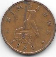 Zimbabwe 1 Cent 1980  Km 1   Xf+ - Zimbabwe