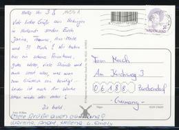 Niederlande 1992, MiNr. 1454 A Auf Postkarte Nach Deutschland, B-445 - Period 1980-... (Beatrix)