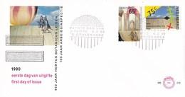"Nederland - FDC - Tulp ""Wapen Van Leyden""/Hortus/100 Jaar Arbeidsinspectie 1890-1990 - NVPH E270 - Géographie"