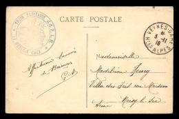 CACHET DU MEDECIN-CHEF DU TRAIN SANITAIRE 44 PLM - Guerre De 1914-18