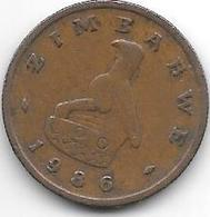 *zimbabwe 1 Cent 1986  Km 1 - Zimbabwe