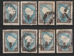 MiNr. 583 Argentinien / 1951, 21. Mai/1952. Freimarke: Landkarte; Mit Einzeichnung Der Argentinischen Zone Der Antarktis - Argentinien