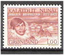Greenland 1977 Jørgen Brønlund 100 Years Birthday, Interpreter  Mi 104, MNH(**) - Grönland