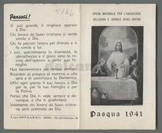 ES5186 SS. Sacramento RICORDO COMUNIONE PASQUALE 1941 APRIBILE ONARMO Santino - Religione & Esoterismo
