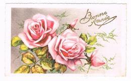 CPA Bonne Et Heureuse Année 1951 (Fleurs Roses) - New Year