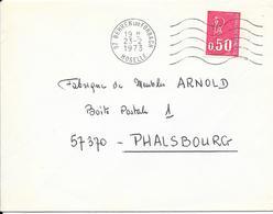 LOT 1810017 - LSC DE BEHREN LES FORBACH DU 23/02/73 POUR PHALSBOURG - Storia Postale