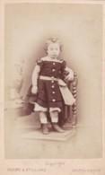 ANTIQUE CDV PHOTO.  SMALL GIRL STANDING ON CHAIR . SOUTHAMPTON  STUDIO - Photographs