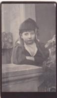 ANTIQUE CDV PHOTO. ' FED UP' CHILD.   NO STUDIO - Photographs