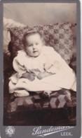 ANTIQUE CDV PHOTO. CHUBBY CHEEKED CHILD. LEEK STUDIO - Photographs