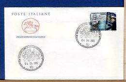 ITALIA - FDC CAVALLINO 2002 -  SCUOLA MILITARE NAVALE - F.D.C.