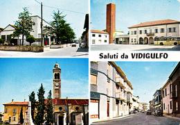 PAVIA - Saluti Da Vidigulfo - 4 Vedute - Monumento Ai Caduti - Pavia