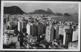 BRASILE - RIO DE JANEIRO - PANORAMA DI CAPOCABANA - FORMATO PICCOLO -VIAGGIATA 1955 FRANCOBOLLO  ASPORTATO - Rio De Janeiro