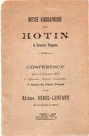 88Sv  76 Dieppe Notice Biographique De Hotin Graveur Conference En 1913 Alcime Dubus Lenfant De Neufchatel En Bray - Dieppe