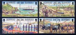 ALDERNEY - 108/115** - DEVELOPPEMENT HISTORIQUE D'AURIGNY - Alderney