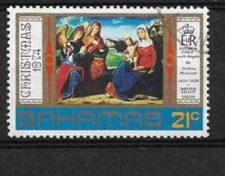 "BAHAMAS                       1974 Christmas    USED   ""Virgin And Child With Angels"" -. - Bahamas (1973-...)"