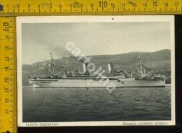 Marina Navigazione Nave Lloyd Triestino Conte Rosso - Barche