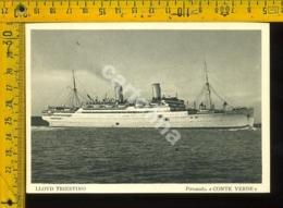 Marina Navigazione Nave Lloyd Triestino Conte Verde - Barche