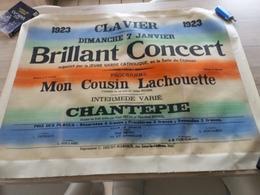 Av. Affiche Publicitaire Concert Clavier 1923 - Publicidad