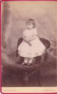 ANTIQUE CDV PHOTO.  SMALL CHILD STOOD ON CHAIR . KILMARNOCK STUDIO - Photographs