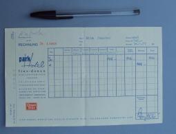Autriche 001  Facture Park Hotel - Linz-donau - 1957 - Autriche