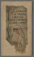 ES5194d SS. Sacramento COMUNIONE JHS VERSI MANZONI Santino In Carta Pregiata  Pergamenata - Religione & Esoterismo
