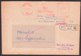 Belzig AFS =DP 020= 1974, Reppinchen, Vermerk Schule Seit 1.9.74 Geschlossen - Zurück -, Int. Zeitdokument - DDR