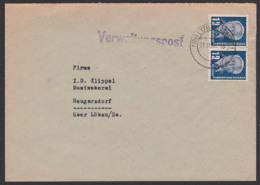 Löbau Sachsen,  Verwaltungspost 1952, Abs. Rat Des Kreises, Abt. Arbeit, Fernbrief 12 Pf(2) Wilhelm Pieck - Official