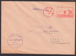 AFS GERA17.4.46 Freier Deutscher Gewerkschaftsbund, Postfreistempel Aptiert, Drucksache - Zona Sovietica