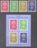 GHANA - 1962 - MNH/**  - AGAINST MALARIA - Yv 120-123 BLOC 7  Mi 134-137 - Lot 17916 - Ghana (1957-...)
