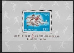 Hongrie Hongarije Ungarn 1966  Yvertn° Bloc 60 *** MNH Cote 10,00 Euro Sport - Blocs-feuillets
