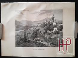 Holzstich Von 1890, Völkermarkt, Von Richard Püttner, Wood Engraving - Estampes & Gravures