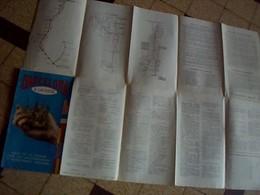 """Depliant Touristique Carte  Espagne Plan General De  Barcelone  """" Barcelona A La  Vista"""" Annee 1959 Rcrit En  Espanol - Roadmaps"""
