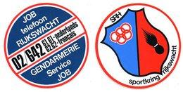 Rijkswacht Gendarmerie Sticker Autocollant 2 Stuks/pcs Reclame Publiciteit Publicité - Stickers