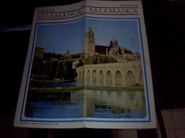 Depliant Touristique Carte  Espagne Plan De La  Ville De Salamanca  Annee  ?? - Roadmaps