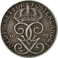 Monnaie, Suède, Gustaf V, 5 Öre, 1949, TTB, Iron, KM:812 - Suède